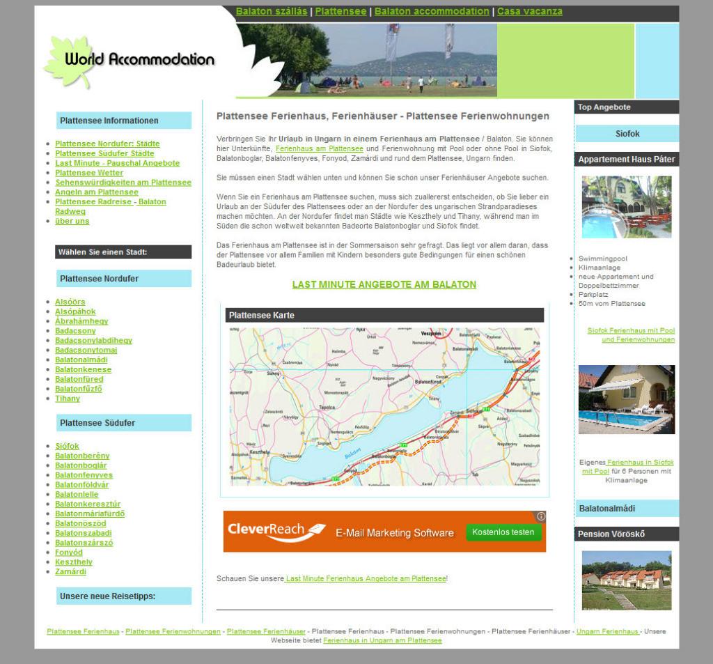Homepage von Fewo Plattensee