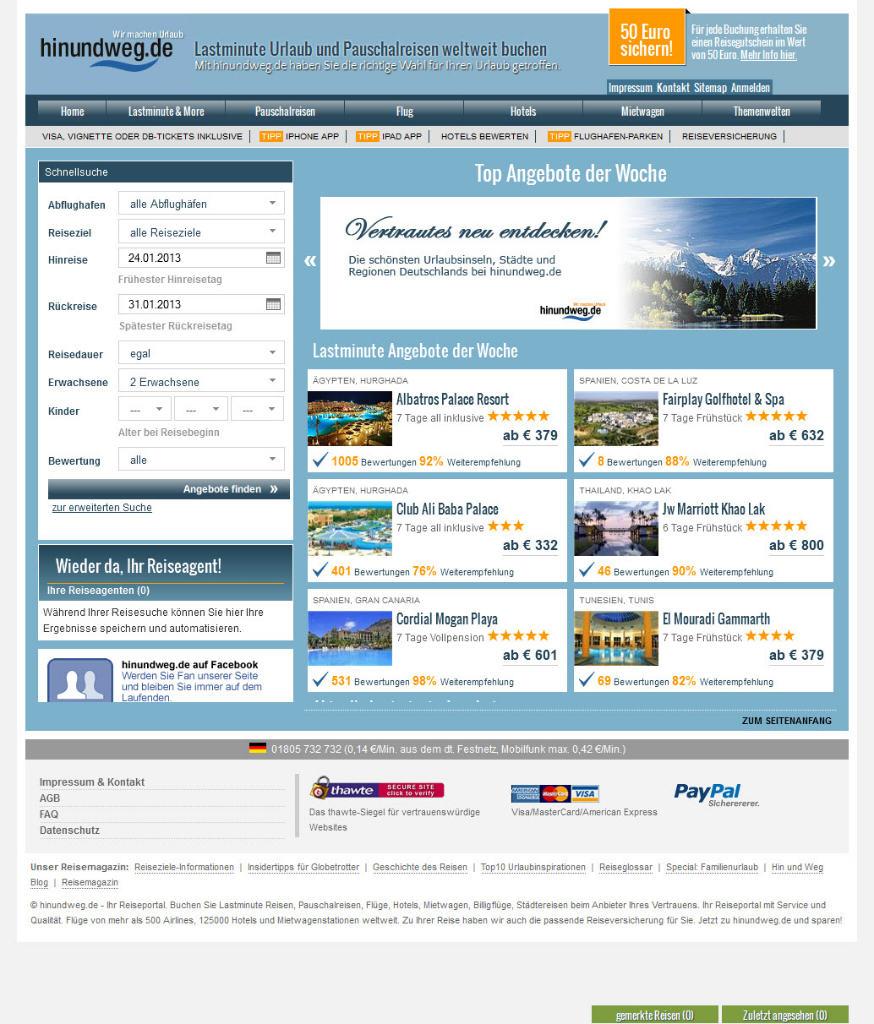 Homepage von Hin und Weg