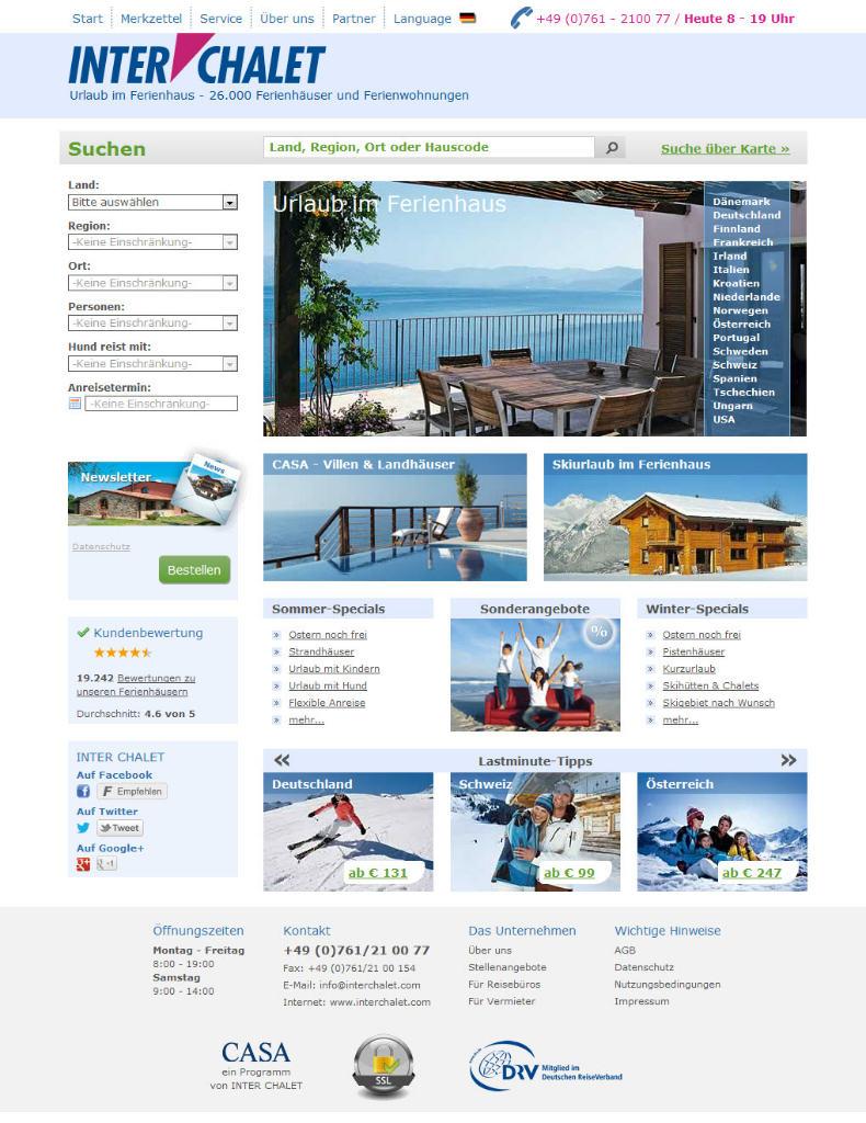 Homepage Interchalet