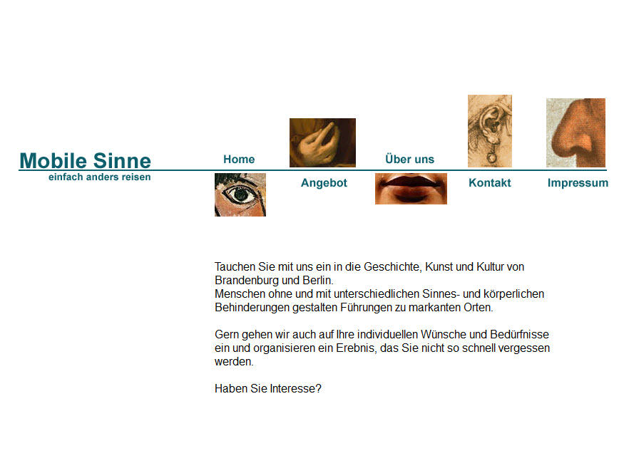 Homepage mobile-sinne