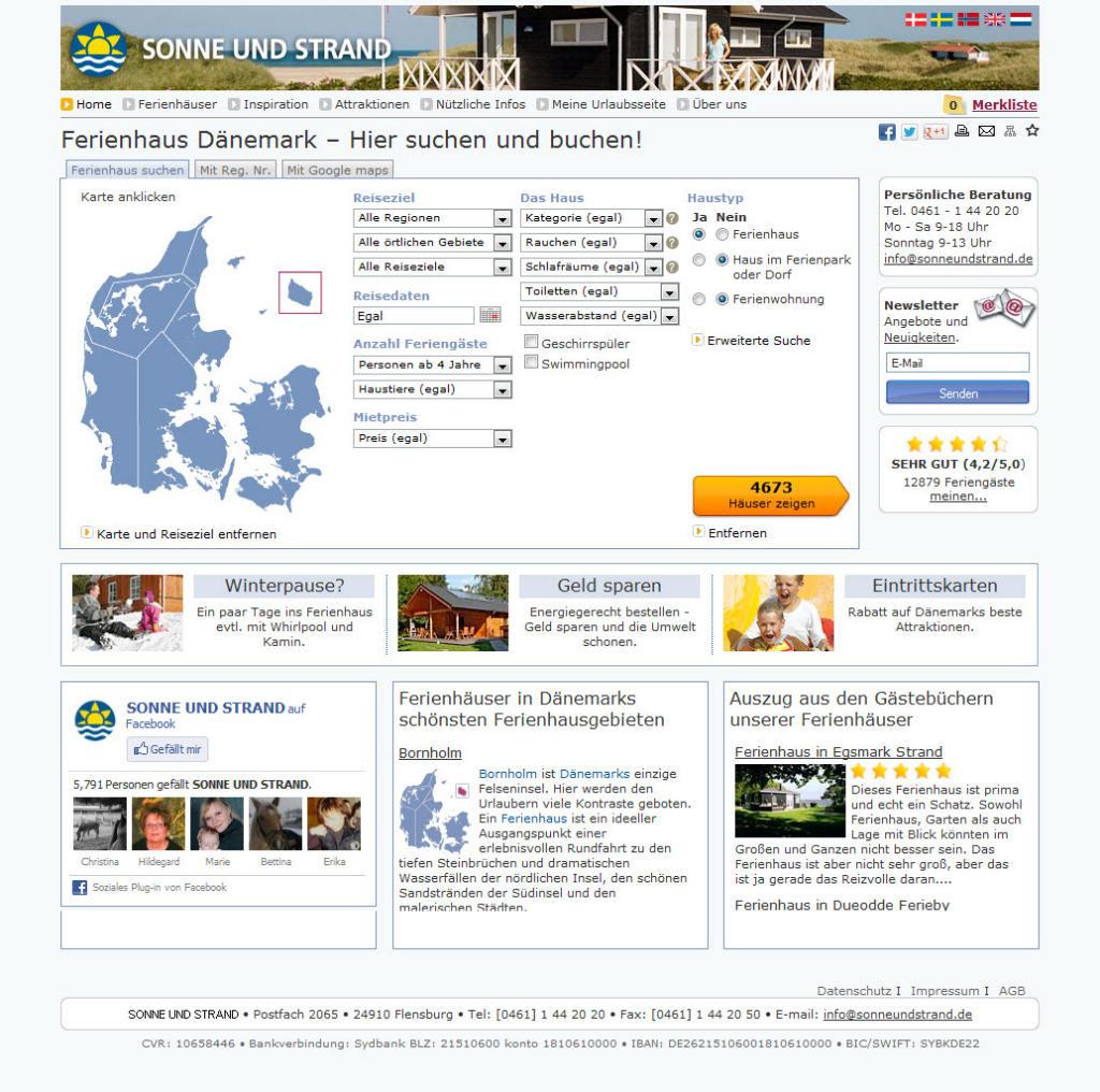 Homepage von Sonne und Strand
