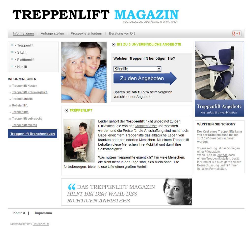 Homepage von Treppenlift-Magazin